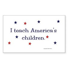 """America's Children"" Rectangle Decal"