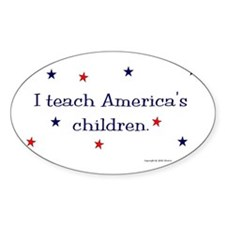 """America's Children"" Oval Decal"