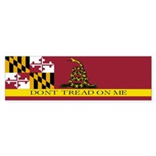 Don't Tread on Me Maryland Bumper Sticker