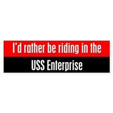 I'd Rather be Riding in the U Bumper Sticker