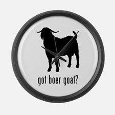 Boer Goat Large Wall Clock