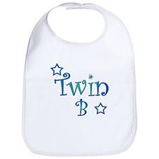 Twin B Blue and Green Bib