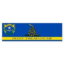 Dont Tread on Me Nevada Flag Bumper Sticker