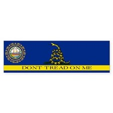 Dont Tread on Me New Hampshir Bumper Sticker