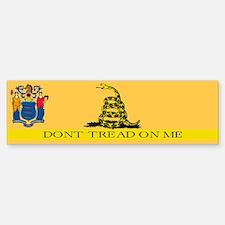 Dont Tread on Me New Jersey Bumper Bumper Sticker