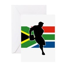 Rugby South Africa Greeting Card