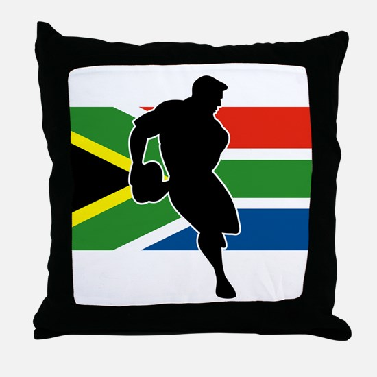Rugby South Africa Throw Pillow