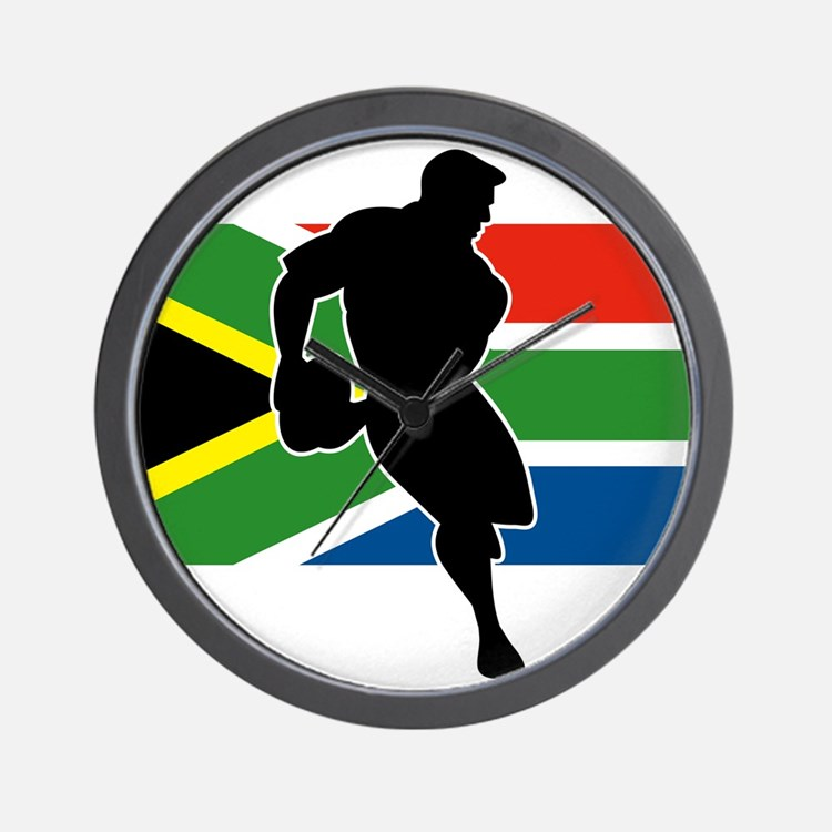 Rugby South Africa Wall Clock