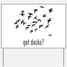 Ducks 1 Yard Sign