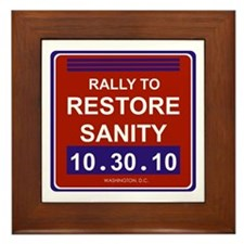 Cute Rally to restore sanity Framed Tile