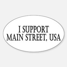 I Support Main Street Oval Decal