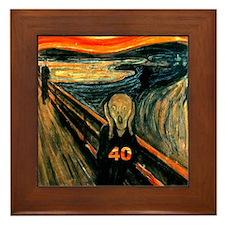 Scream 40th Framed Tile