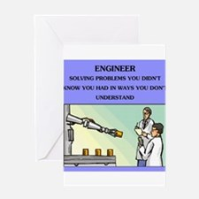 funny engineering joke Greeting Card
