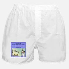 funny engineering joke Boxer Shorts