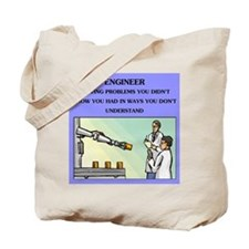funny engineering joke Tote Bag