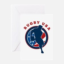 Rugby USA Greeting Card