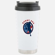 Rugby USA Stainless Steel Travel Mug
