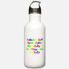 Alphabet in color Sports Water Bottle