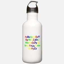 Alphabet in color Water Bottle