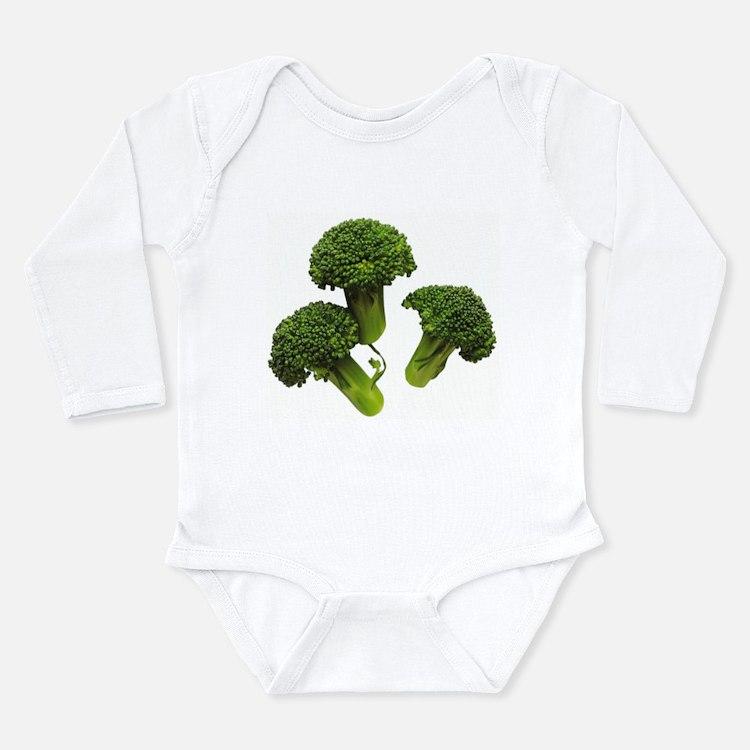 Broccoli Long Sleeve Infant Bodysuit