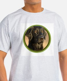 Flat Coat Art Ash Grey T-Shirt