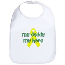 Cute My daddy is is my hero Bib