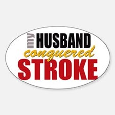 My Husband Conquered Stroke Decal
