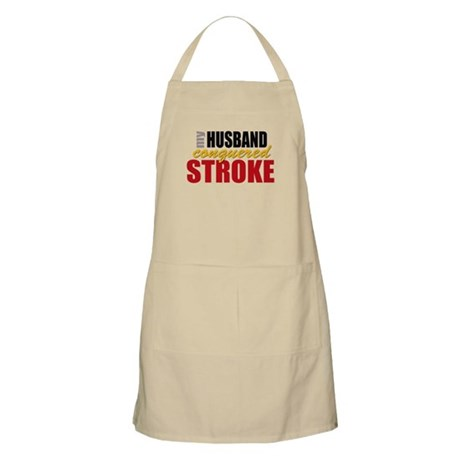 My Husband Conquered Stroke Apron