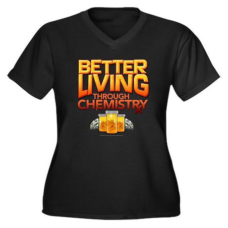 Chemistry Women's Plus Size V-Neck Dark T-Shirt