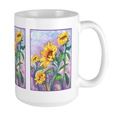 Sunny Sunflowers Watercolor Mug