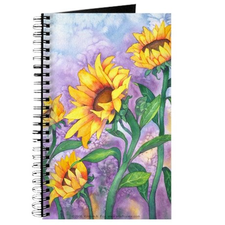 Sunny Sunflowers Watercolor Journal