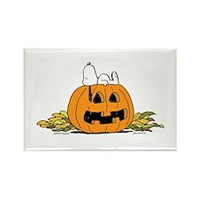 Pumpkin Patch Lounger Rectangle Magnet