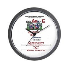One Step Voters Guide Wall Clock