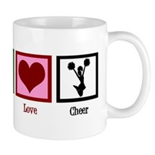Peace Love Cheer Small Mug