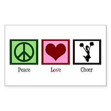 Peace Love Cheer Decal
