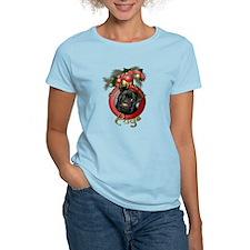 Christmas - Deck the Halls - Pugs T-Shirt