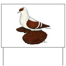 Red Fullhead Swallow Pigeon Yard Sign