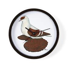 Red Fullhead Swallow Pigeon Wall Clock