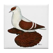 Red Fullhead Swallow Pigeon Tile Coaster