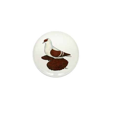 Red Fullhead Swallow Pigeon Mini Button (100 pack)