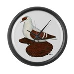 Red Fullhead Swallow Pigeon Large Wall Clock