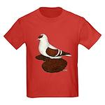 Red Fullhead Swallow Pigeon Kids Dark T-Shirt