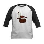 Red Fullhead Swallow Pigeon Kids Baseball Jersey