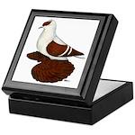 Red Fullhead Swallow Pigeon Keepsake Box