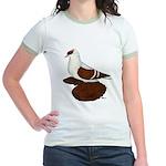 Red Fullhead Swallow Pigeon Jr. Ringer T-Shirt