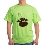 Red Fullhead Swallow Pigeon Green T-Shirt