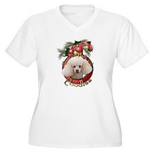 Christmas - Deck the Halls - Poodles T-Shirt