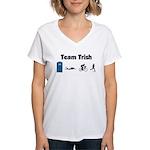 Team Trish Women's V-Neck T-Shirt