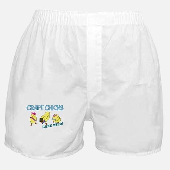 Craft Chicks Gone Wild! Boxer Shorts