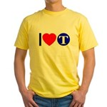 DOT ARTS Custom Monograms Yellow T-Shirt